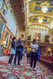 Interior of  royal palace in Medieval Windsor Castle. UK Stock Images