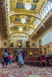 Interior of  royal palace in Medieval Windsor Castle. UK Stock Photo