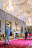 Interior of  royal palace in Medieval Windsor Castle. UK Royalty Free Stock Photos