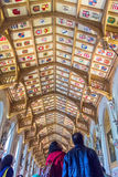 Interior of  royal palace in Medieval Windsor Castle. UK Royalty Free Stock Photo
