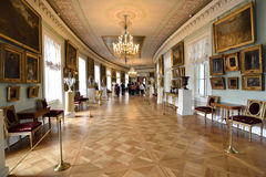 Interior in the royal residence in Pavlovsk, Russia Royalty Free Stock Photography