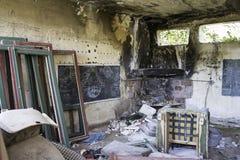 Interior ruin house Royalty Free Stock Photo