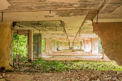 Interior of a ruined building, Cuba Royalty Free Stock Images