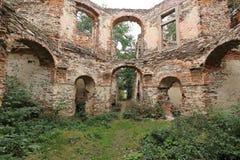Interior of ruined folly Royalty Free Stock Photo