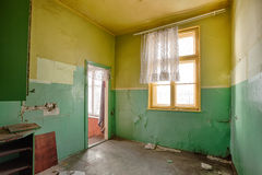 Interior of a ruined house Royalty Free Stock Photos
