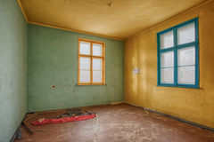 Interior of a ruined house Royalty Free Stock Image
