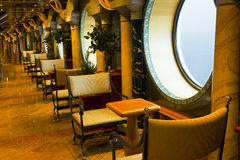 Interior ruise ship - separeta overlooking the sea Royalty Free Stock Photography