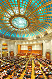 Interior rumano del senado Foto de archivo libre de regalías