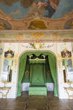 Interior of Rundale palace. The Duke's Bedroom Stock Image