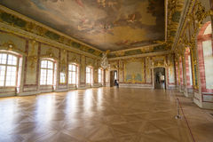 Interior of Rundale palace. The Gold Hall Stock Photo