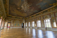 Interior of Rundale palace. The Gold Hall Royalty Free Stock Photography