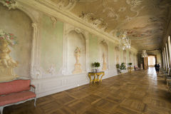 Interior of Rundale palace. The Grand Gallery Royalty Free Stock Photos