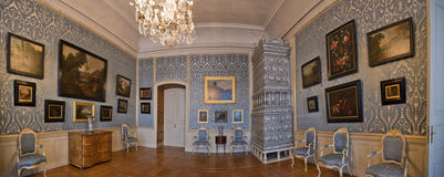 Interior  in Rundale Palace Stock Photo