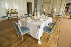 Interior of Rundale palace. The Marble Hall served as the Duke Royalty Free Stock Image