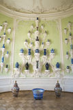 Interior of Rundale palace. The Oval Porcelain Cabinet Royalty Free Stock Photography