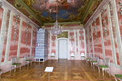 Interior of Rundale palace. The Rose Room Royalty Free Stock Photography