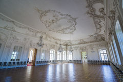 Interior of Rundale palace. The White Hall Stock Images