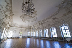 Interior of Rundale palace. The White Hall Royalty Free Stock Images