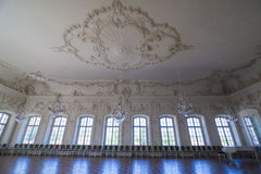 Interior of Rundale palace. The White Hall Royalty Free Stock Photo