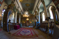Interior rural church in Zheravna. Bulgaria Royalty Free Stock Photos