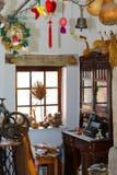 Interior of rural Ukrainian folk art workshop Stock Image