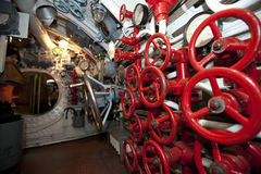 Interior of russia submarine Stock Photography