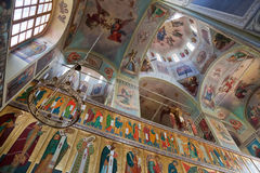 Interior of Russian church Royalty Free Stock Photo