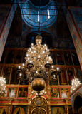 Interior of russian orthodox church Royalty Free Stock Photography