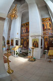 Interior of russian orthodox church Royalty Free Stock Image