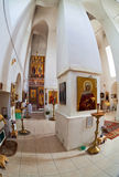 Interior of russian orthodox church Stock Photo