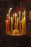 Interior of russian orthodox church. Stock Photography