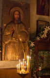 Interior of russian orthodox church. Royalty Free Stock Images
