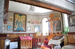 The interior of the Russian Orthodox Church. Royalty Free Stock Photo