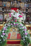 The interior of the Russian Orthodox Church. Royalty Free Stock Image
