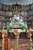 The interior of the Russian Orthodox Church. Stock Images