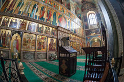 Interior of russian orthodox church Stock Image
