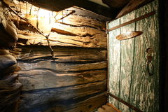 Interior of russian wooden sauna Royalty Free Stock Photo