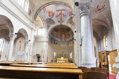Interior of Sacro Cuore church royalty free stock images