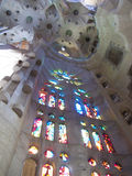 Interior of Sagrada Familia Royalty Free Stock Image