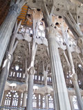 Interior of Sagrada Familia Stock Images