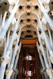 Interior of the Sagrada Familia, Barcelona Stock Image