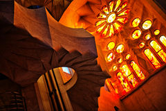 Interior of Sagrada Familia in Barcelona, Spain Stock Image