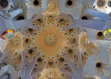 Interior of the Sagrada Familia Stock Images