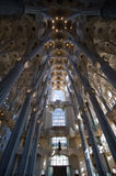 Interior of Sagrada Familia cathedral Royalty Free Stock Photo