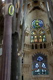 Interior of the Sagrada Familia cathedral Royalty Free Stock Photos