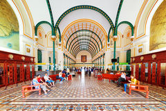 Interior of Saigon Central Post Office in Ho Chi Minh, Vietnam Stock Image