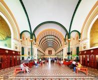 Interior of Saigon Central Post Office, Ho Chi Minh, Vietnam Stock Photos