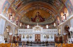 Interior of Saint Andrew Basilica of Patras Royalty Free Stock Photography