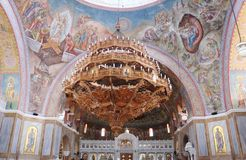 Interior of Saint Andrew Basilica of Patras Royalty Free Stock Images