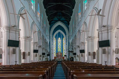 Interior of Saint Andrew Cathedral in Singapore, selective focus Stock Images